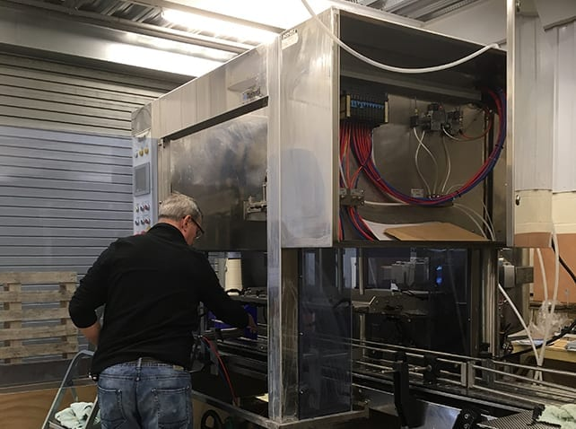 Service Engineer Andrew working on a Masterfil machine at our Sussex site