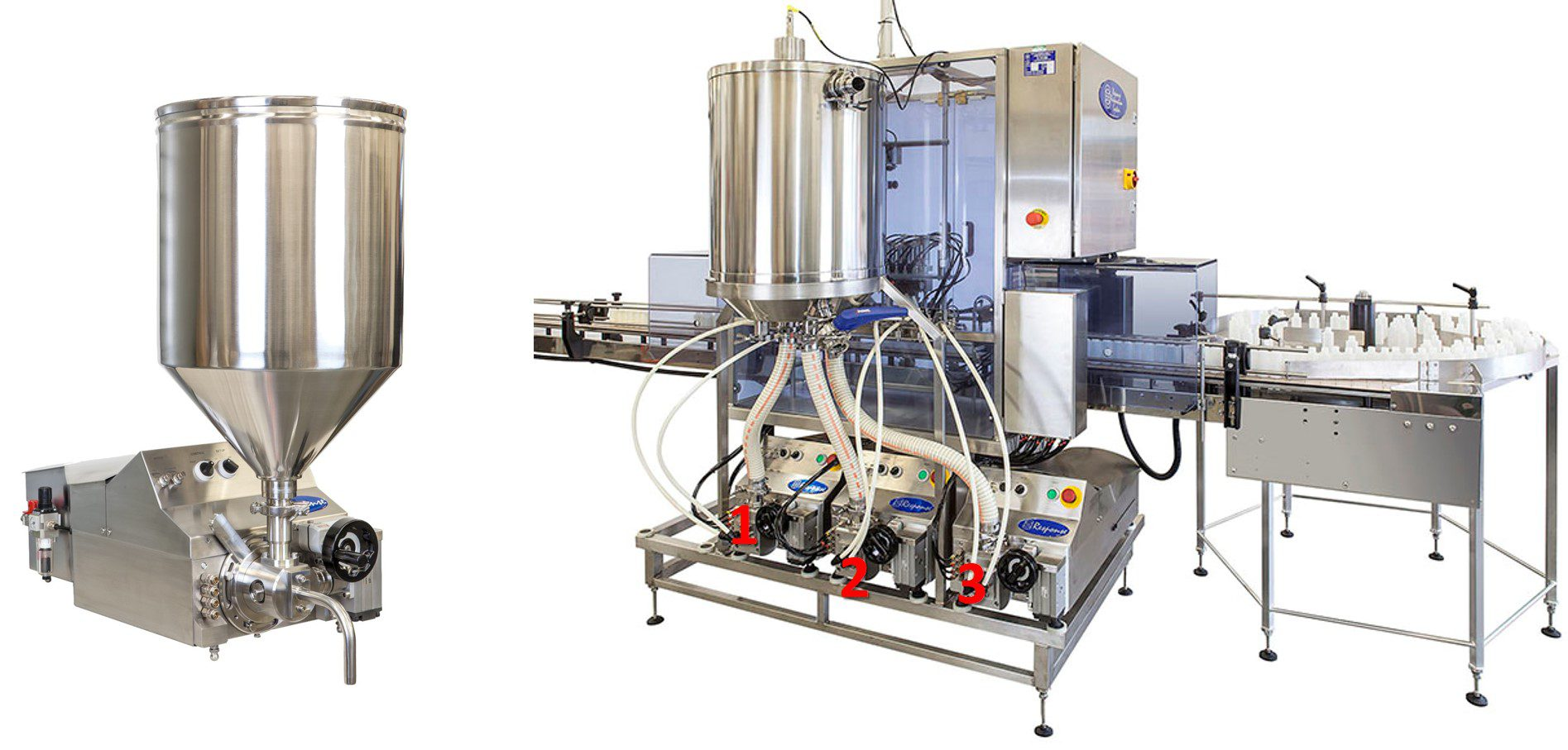 Filling machines for sauces, dressings and vinaigrettes