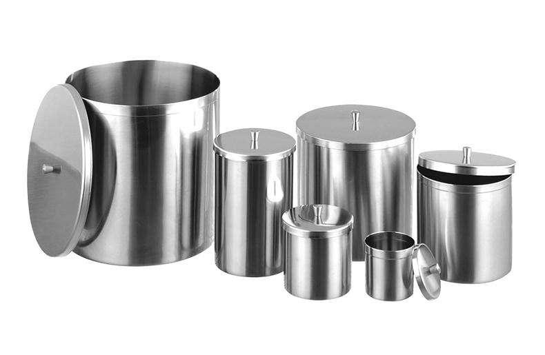 Hygienic Stainless Steel Containers with Lids