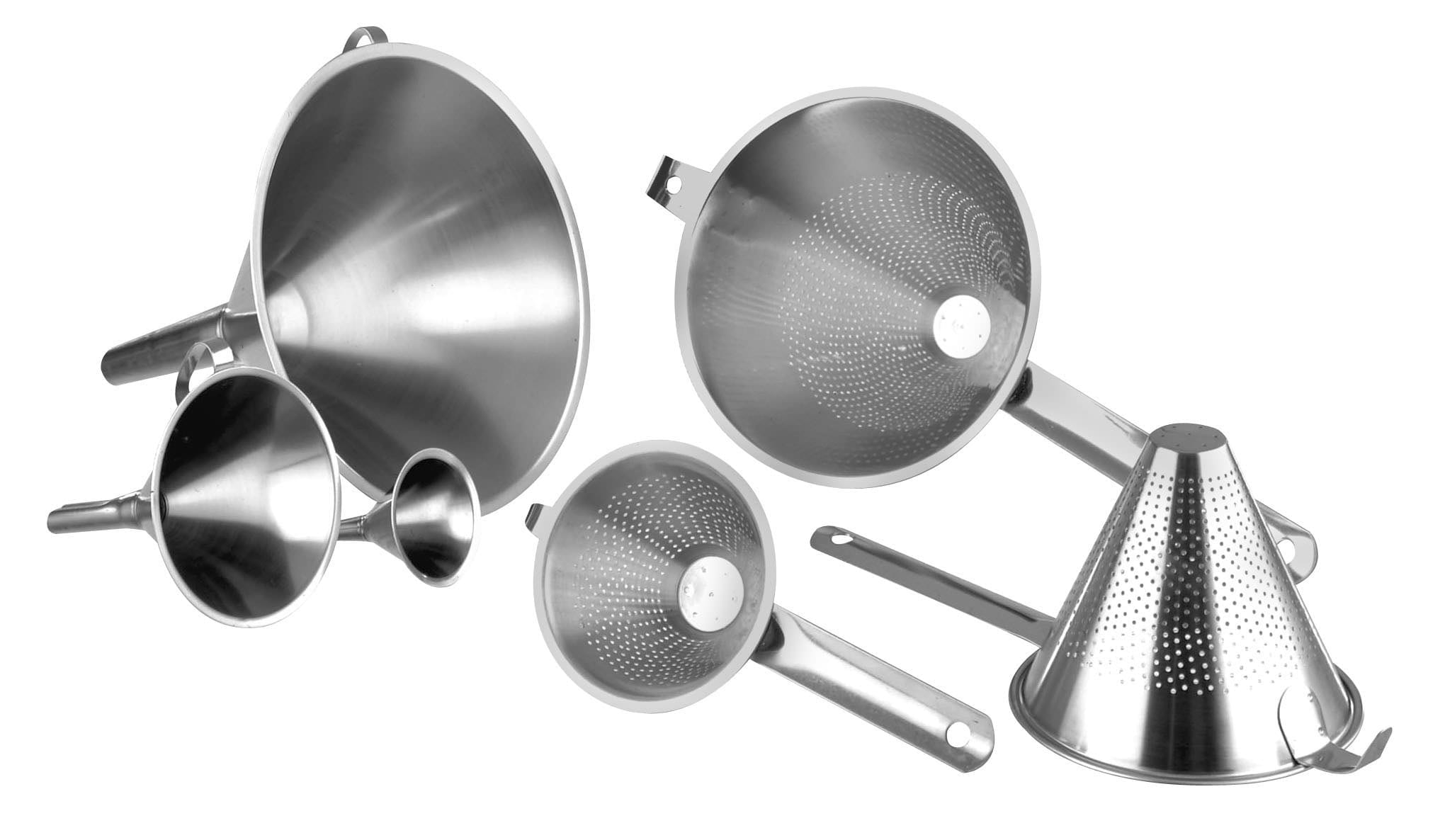 Stainless Steel Funnels and Strainers