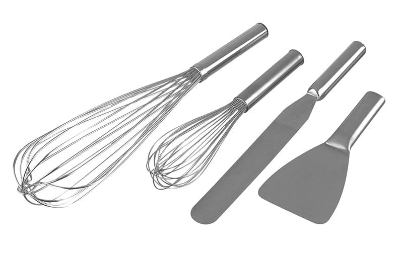 Hygienic stainless steel whisks, spatulas & scrapers