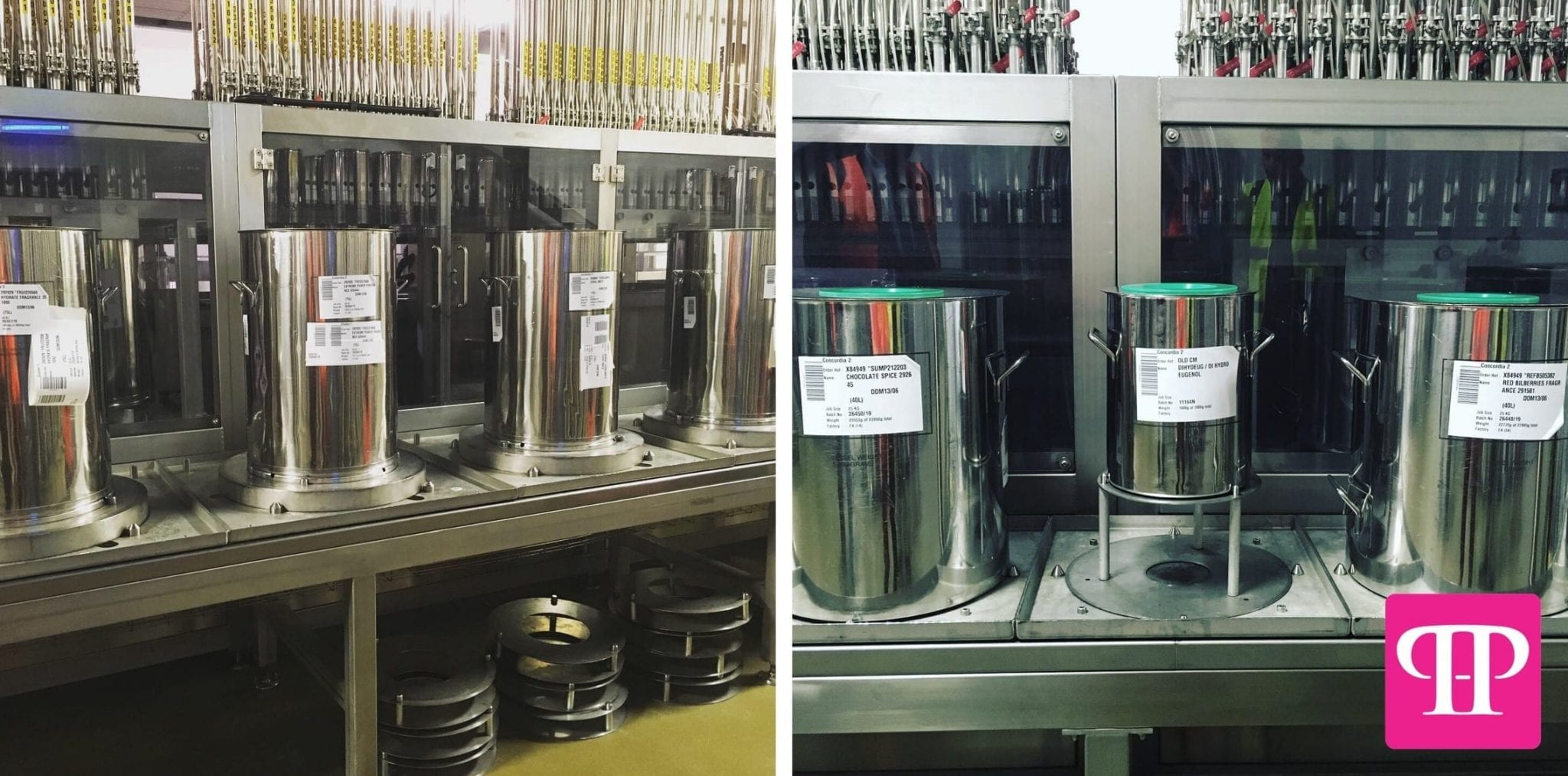 Hygienic Stainless Steel Containers for Fragrance & Essential Oils Manufacturing