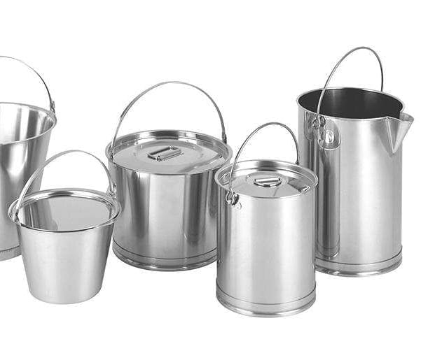 Hygienic Stainless Steel Buckets and Pails